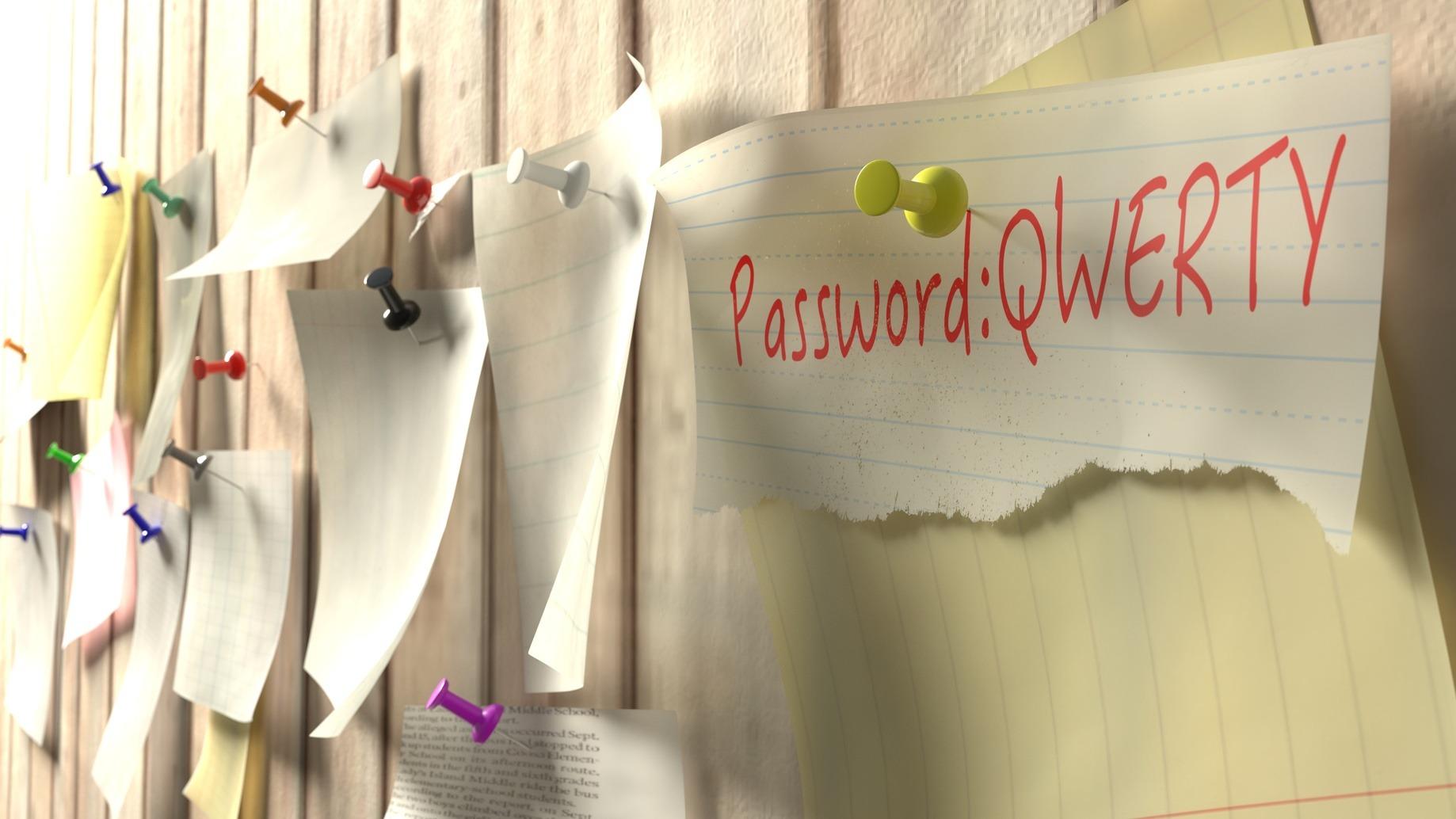 Password peggiori post-it