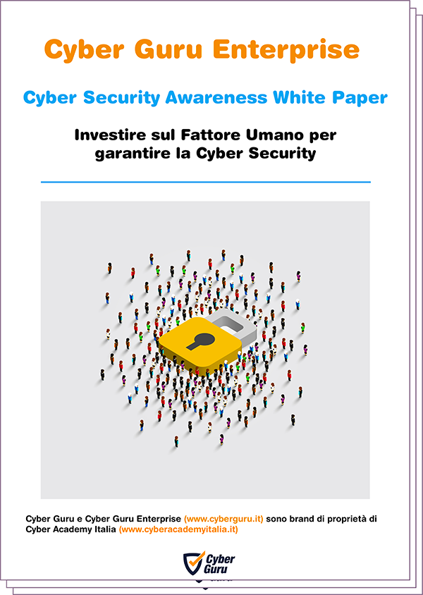 Cyber Guru - Security Awareness White Paper - Cover
