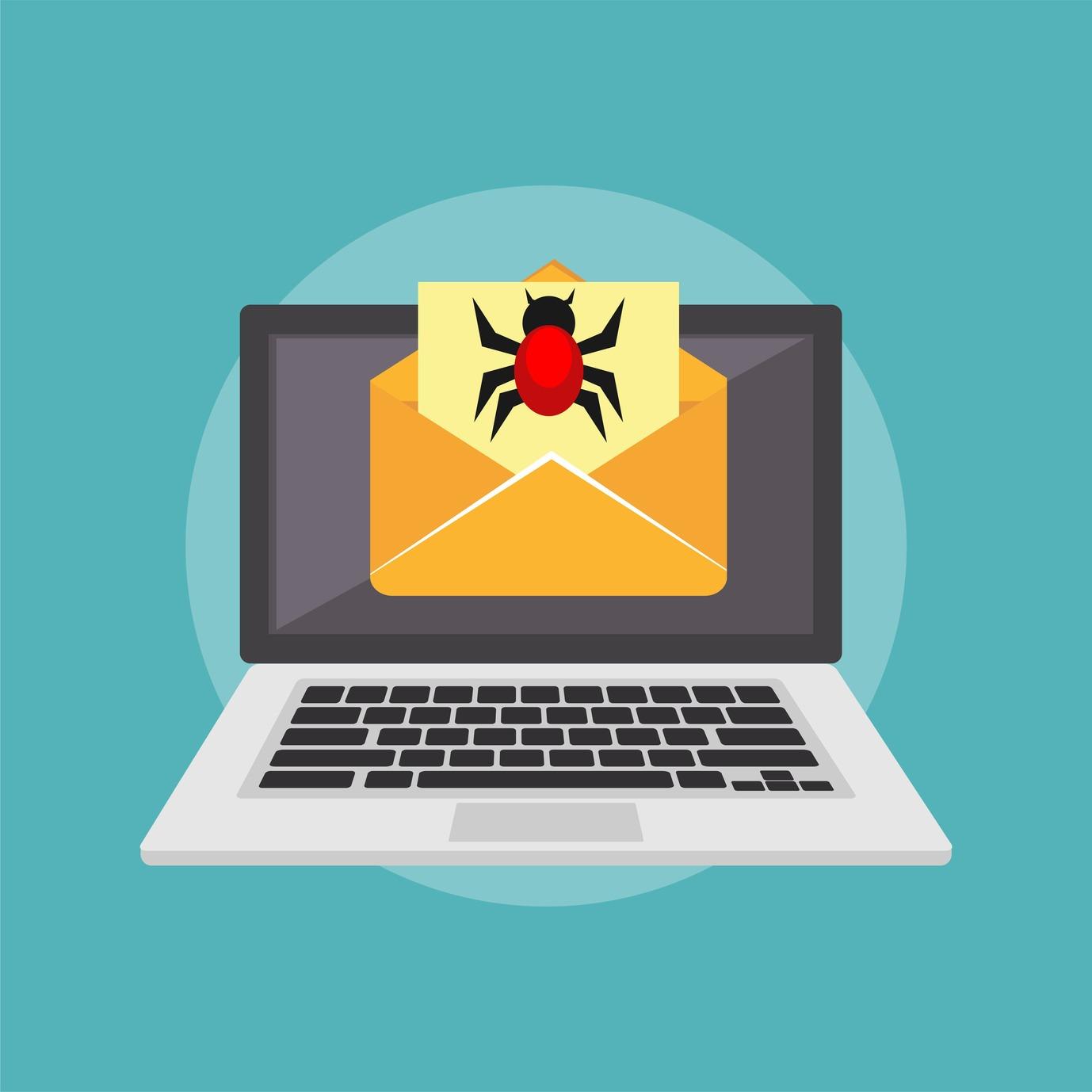 Malware appare da una mail di phishing
