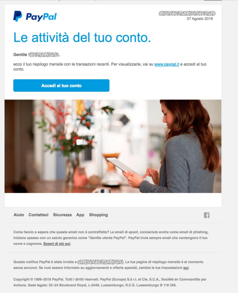 Mail Phishing Paypal